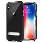 Colorfone Kickstand iPhone X/XS Transparant Zwart