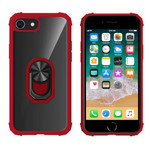 Colorfone Ring iPhone 8/7/6 Transparant Rood