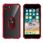 Colorfone Ring iPhone 8 Plus/7 Plus/6 Plus Transparant Rood