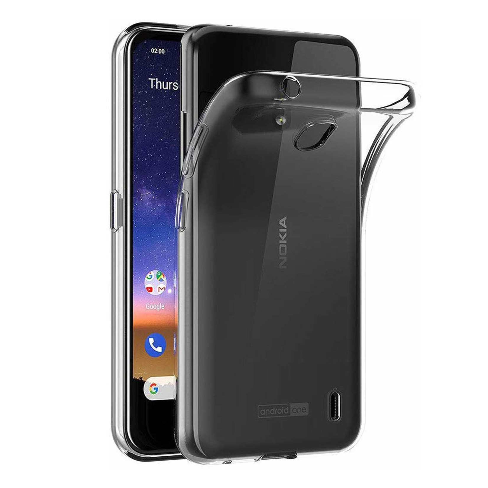 Colorfone Hoesje CoolSkin3T voor Nokia 2.2 Tr. Wit