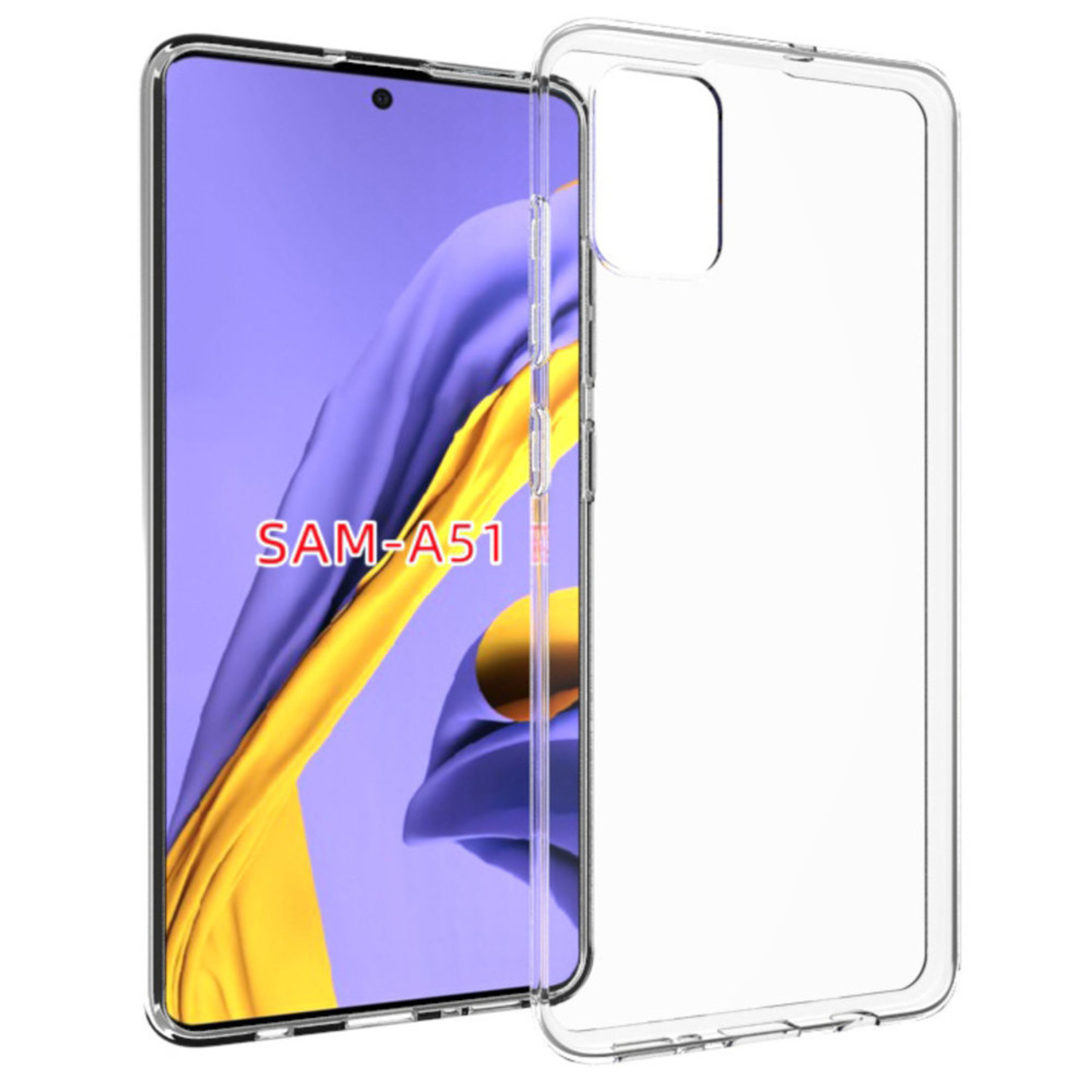 Colorfone Hoesje Coolskin3T voor Samsung A51 Transparant Wit