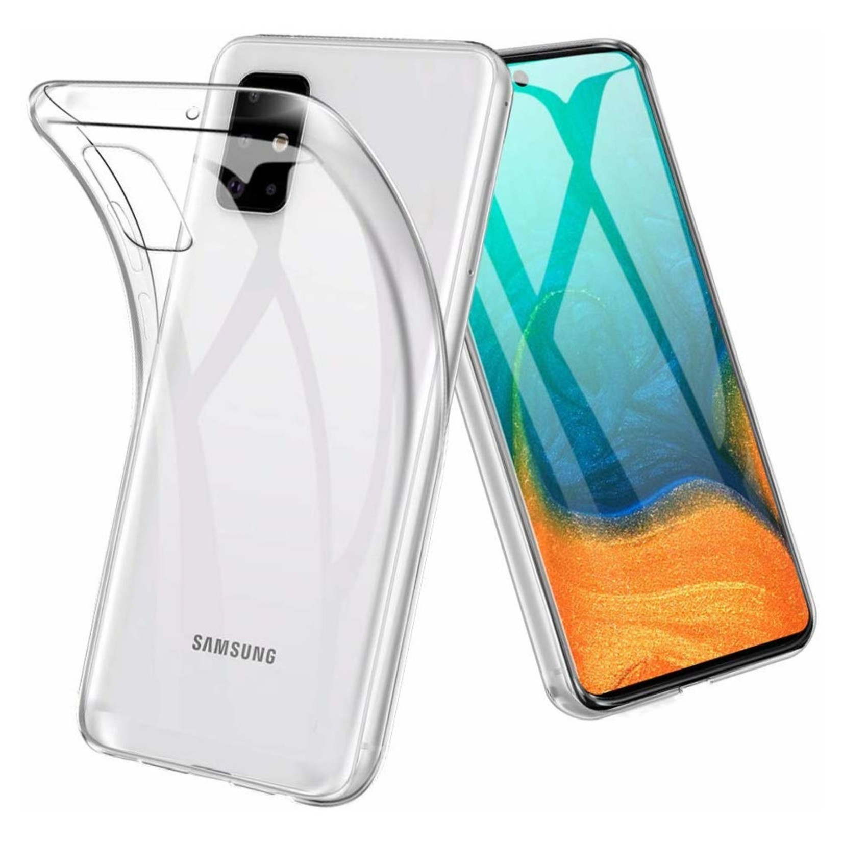 Colorfone Hoesje Coolskin3T voor Samsung A71 Transparant Wit