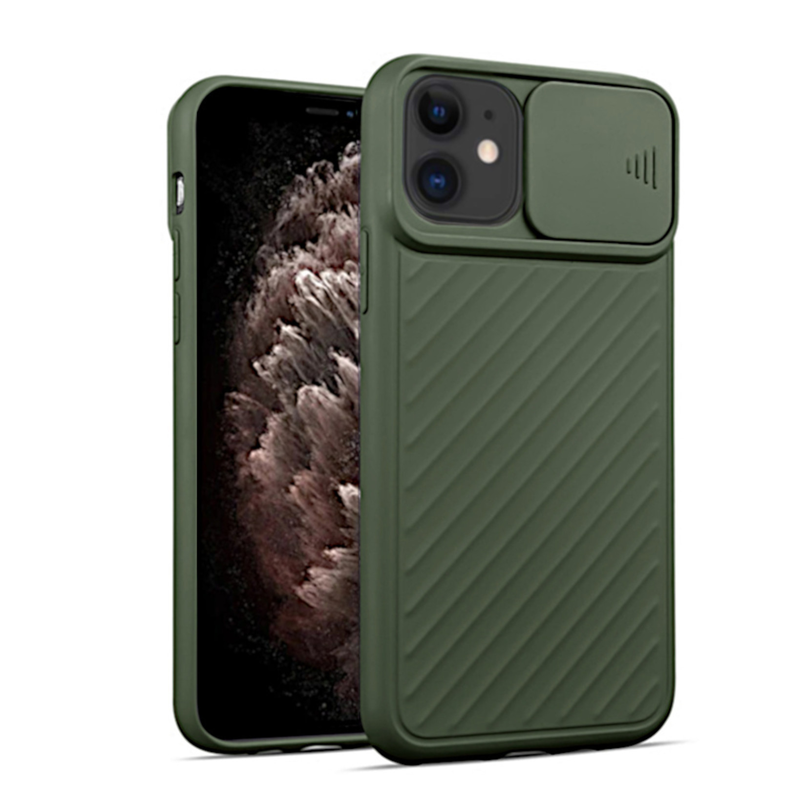 Colorfone Hoesje CamShield Apple iPhone 11 (6.1) Groen