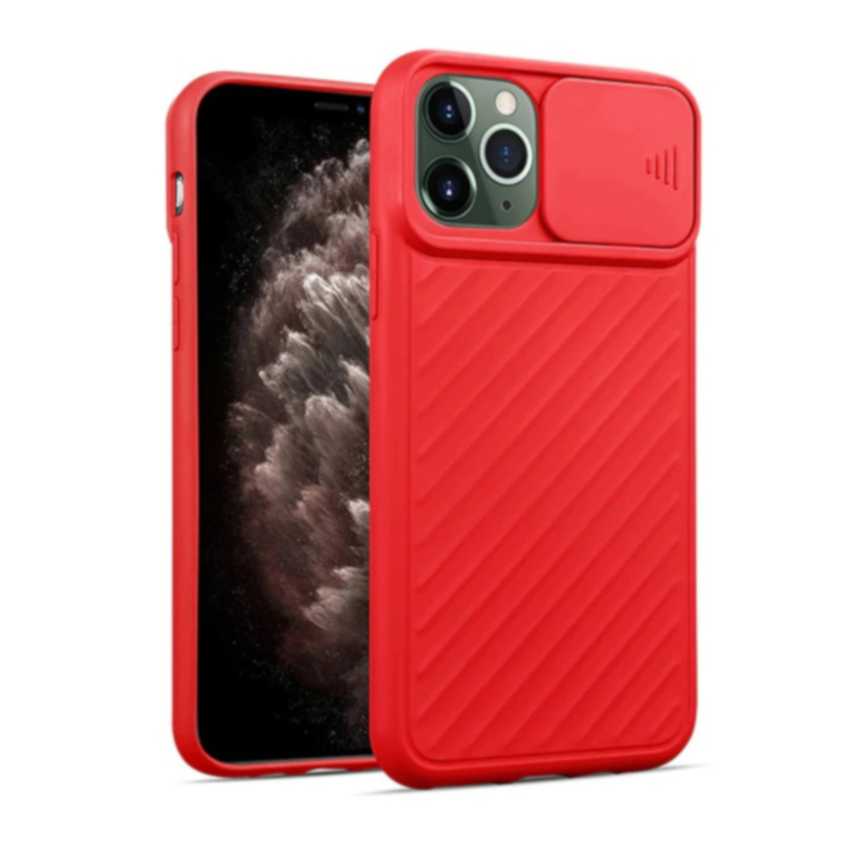 Colorfone Hoesje CamShield Apple iPhone 11 Pro Max (6.5) Rood