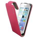 Suncia Leather1 iPhone 5C Klassiek D. Roze