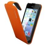 Suncia Leather1 iPhone 5C Klassiek Oranje