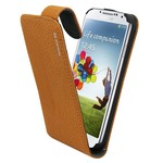 Suncia Leather1 i9500 Galaxy S4 Klassiek Bruin