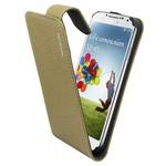 Suncia Leather1 i9500 Galaxy S4 Klassiek Grijs