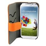 Suncia Leather2 i9500 Galaxy S4 Klassiek Oranje