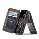 CaseMe 2 in 1 Zipper Wallet voor S20 Zwart