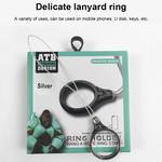 ATB Design Ring Houder Touwtje Zwart