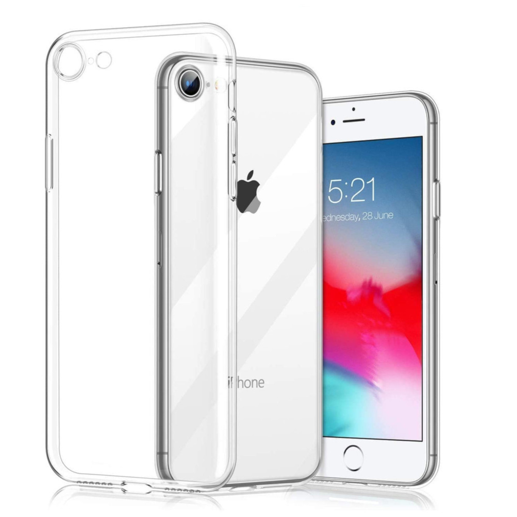 Colorfone Hoesje CoolSkin3T voor Apple iPhone 9 Tr. Wit