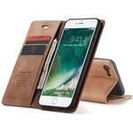 CaseMe Retro Wallet Slim voor iPhone SE 2020/8/7 L.Bruin