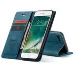 CaseMe Retro Wallet Slim voor iPhone SE 2020/8/7 Blauw