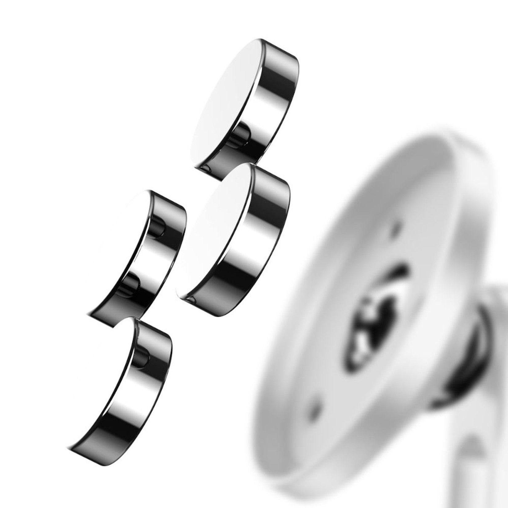 Baseus Autohouder Magneet Sticker Zilver