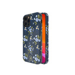 Flower BackCover iPhone 12/12 Pro 6.1'' Blauw