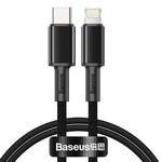 Fast Charging Data Kabel Type-C naar Lightning 1m Zwart