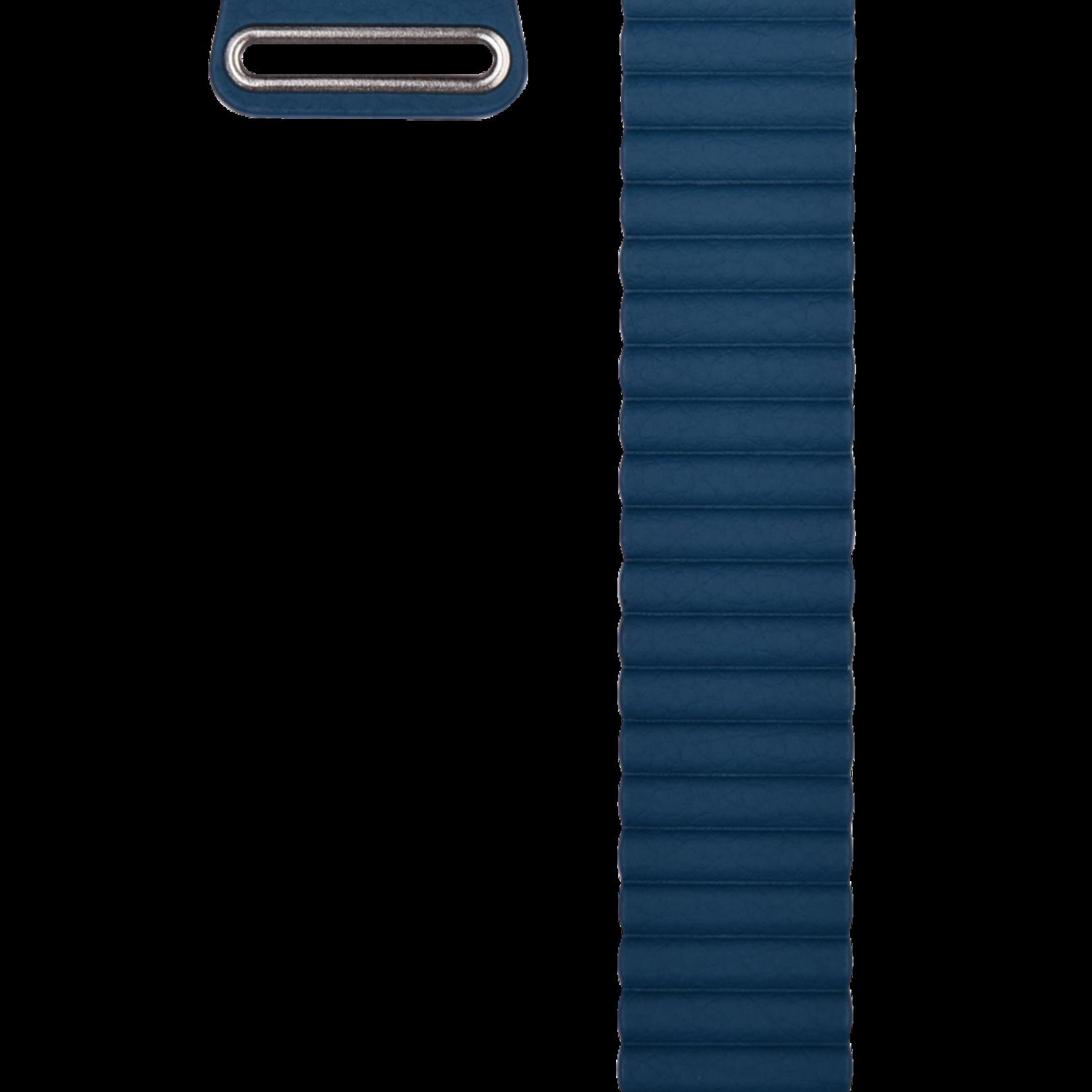 Apple watch Leren Loop 42/44mm Blauw