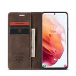 CaseMe Retro Wallet Slim voor S21 Plus Bruin