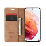 CaseMe Retro Wallet Slim voor S21 Plus L.Bruin