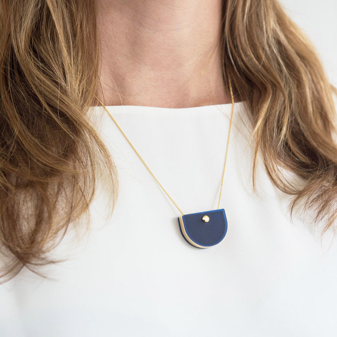 NECKLACE MEMORY BLUE