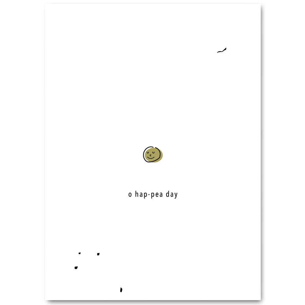 POST CARD - O HAP-PEA DAY