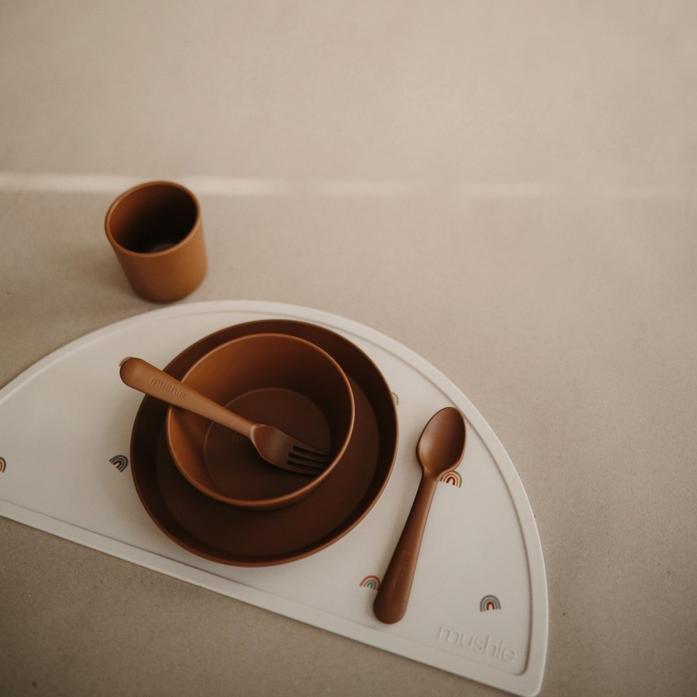FORK AND SPOON SET - CARAMEL
