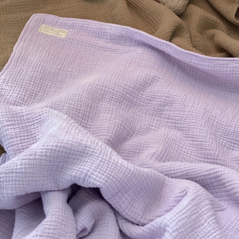 CHUNKY BLANKET LUCKY LILA - COT