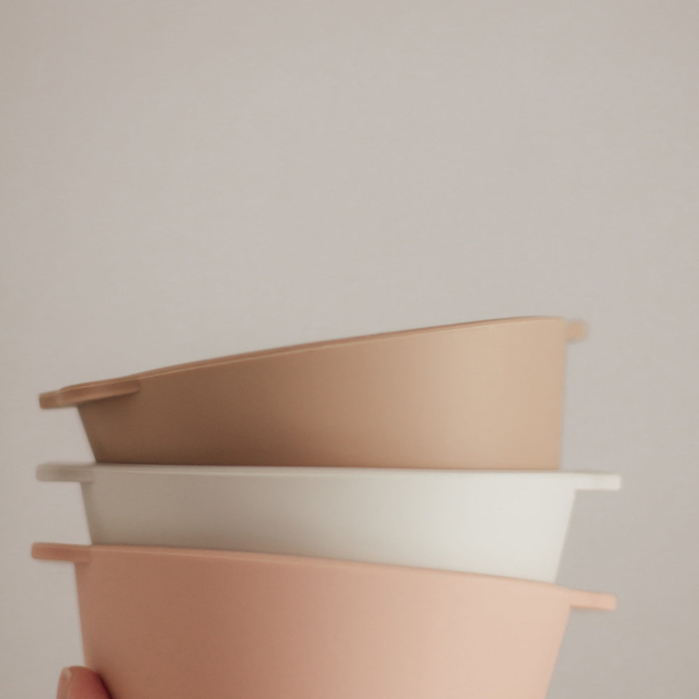SILICONE BOWL 2-PACK | ROSE/FEATHER GREY