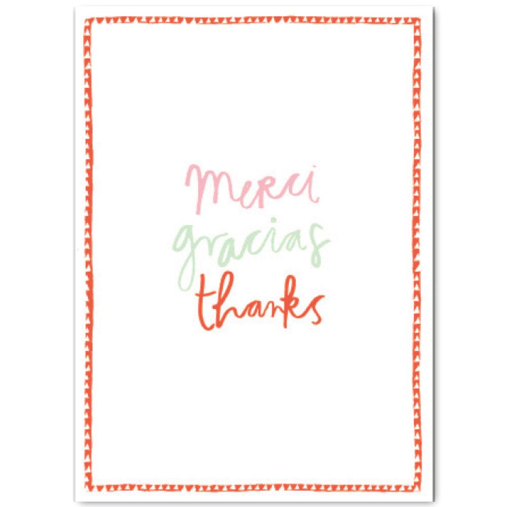 MERCI GRACIAS THANKS