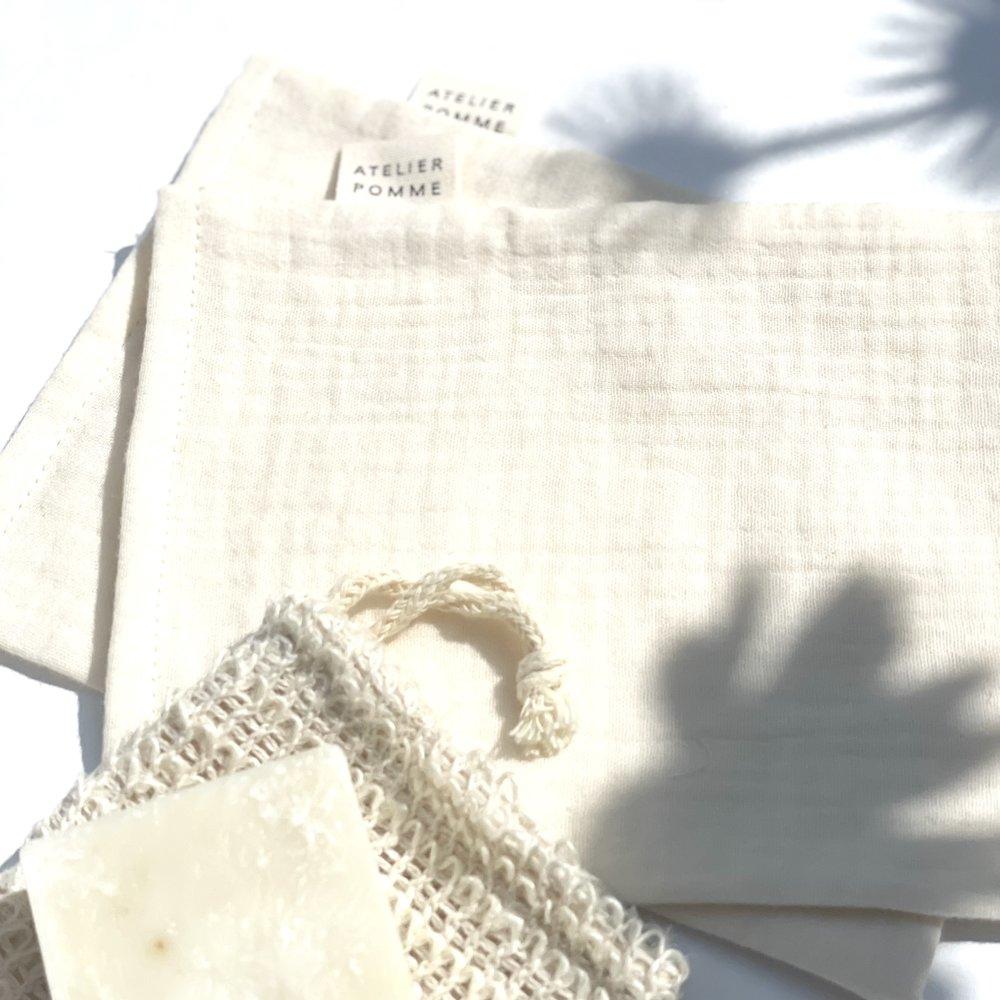DIRTY CHEEKS - SET VAN 2 WASHANDJES - COSY WHITE