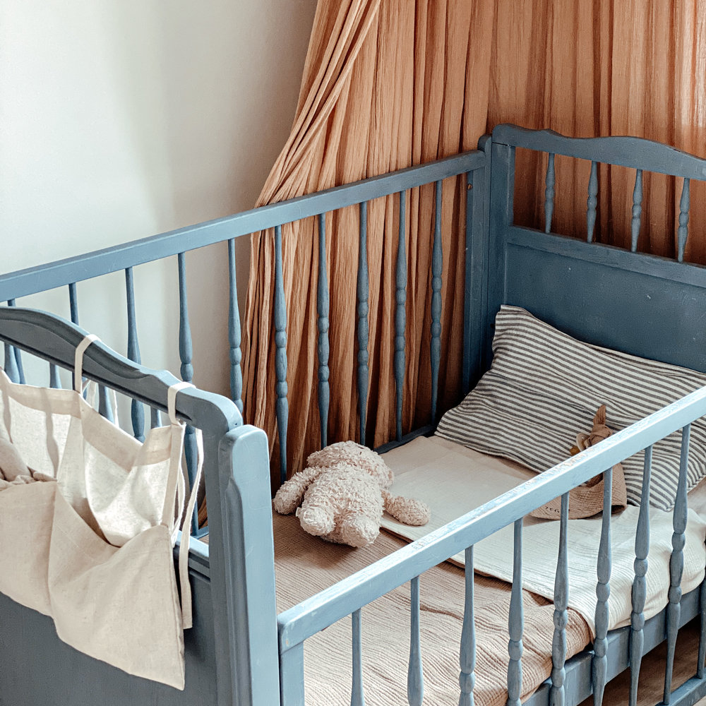 CHUNKY BED SET FINE BROWN - COT