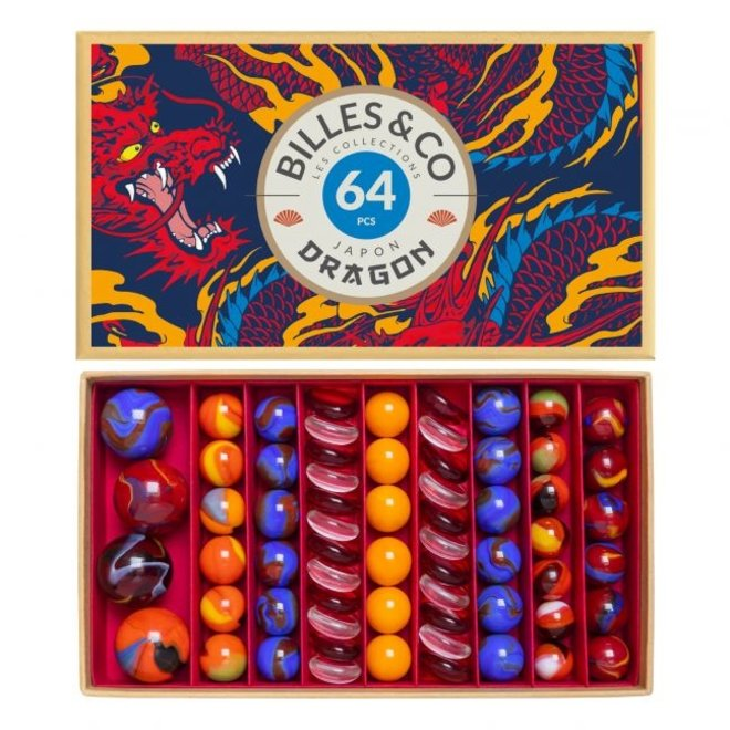 MARBLES - FIRE DRAGON RED