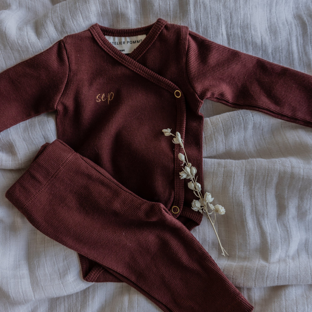 ROMPER WRAP THE BABY - CHERRY RED