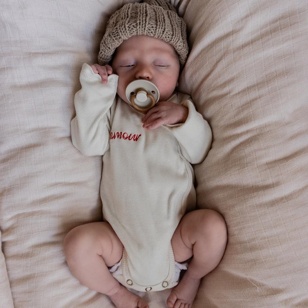ROMPER WRAP THE BABY - COSY WHITE