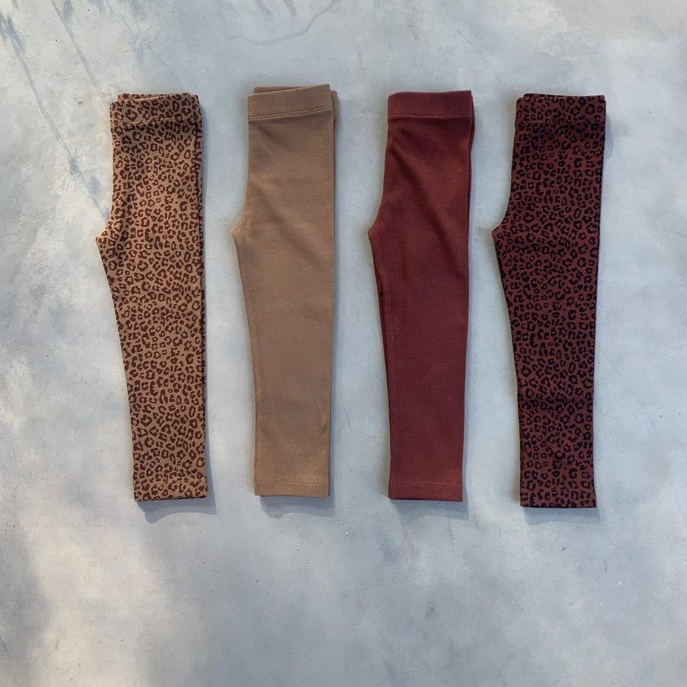 LEGGING HAPPY PANTS - FINE BROWN / CHERRY RED