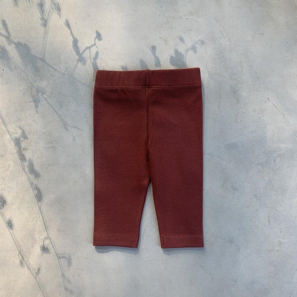 TINY LEGGING HAPPY PANTS - CHERRY RED
