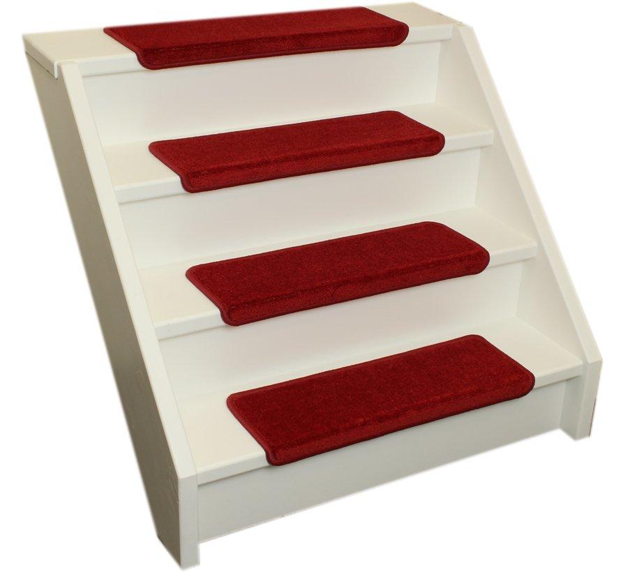 Elite soft rood rechte trapmatten