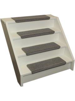 Elite Trapmatten Elite soft licht grijs rechte trapmatten