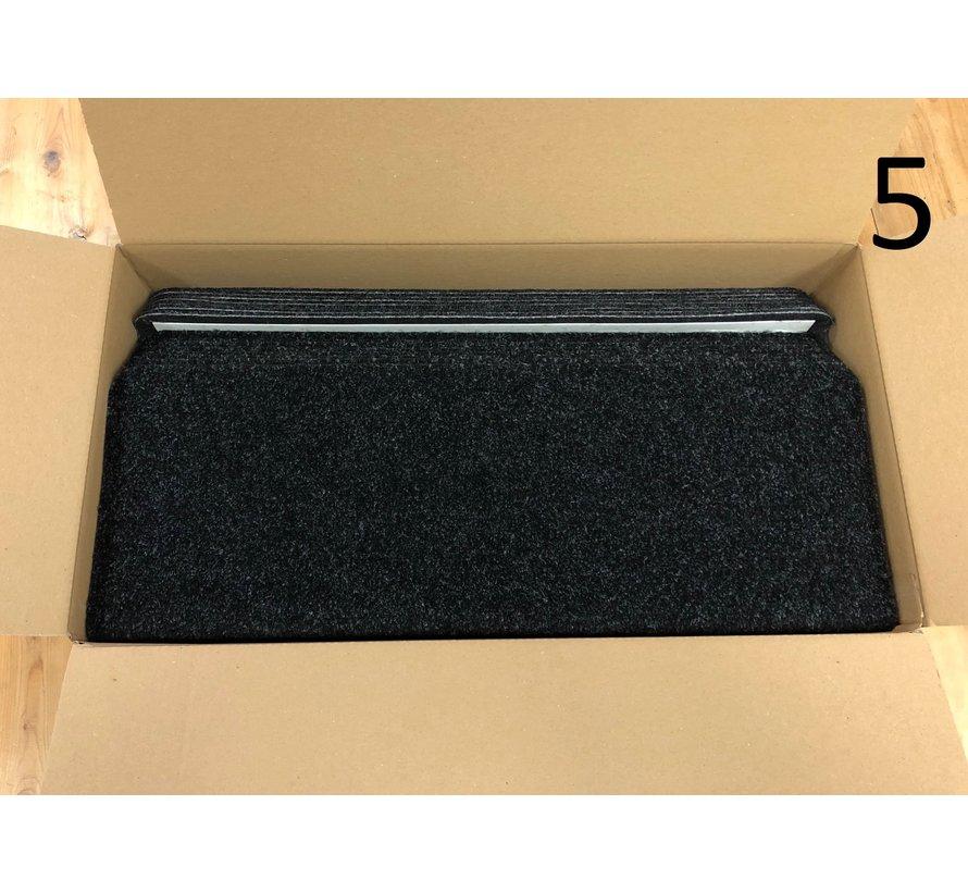 Solid zwart 65x22x3,5cm recht