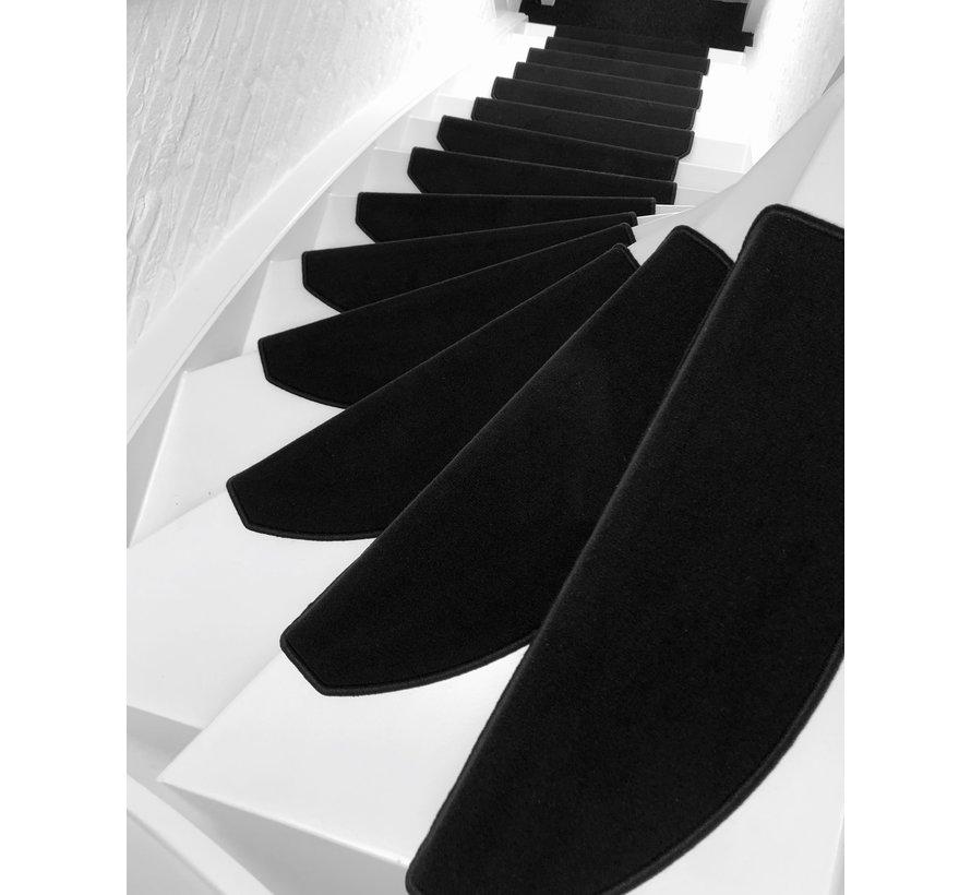 Trapmatten velours zwart