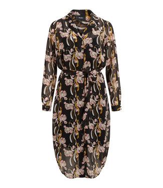 Object OBJCINNA Long Shirt Dress - Black AOP Multi