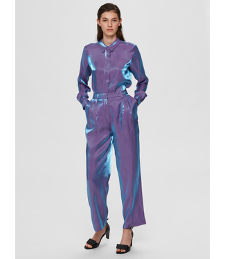 Selected Femme SLFSTACY Wide Pant - Crushed Grape