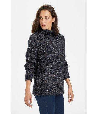 Kaffe KAsaya Knit Pullover - Midnight Marine Melange