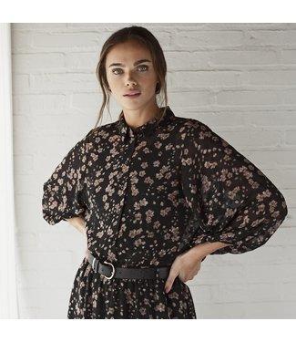 Kaffe KAstarry Shirt - Black Floral Print