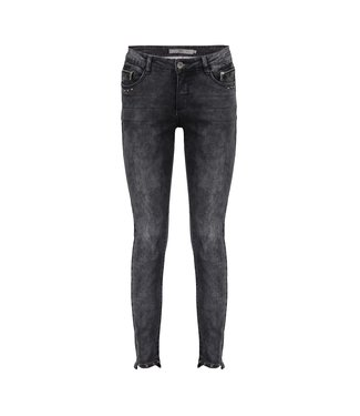 Geisha Jeans 7/8 Studs - Grey Denim