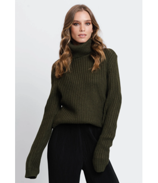 Rut&Circle Tinelle Rollneck Knit - Army Green