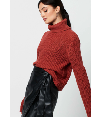 Rut&Circle Tinelle Rollneck Knit - Rust