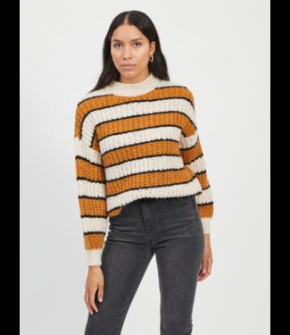 Object OBJBUSE Knit Pullover - Honey Ginger Stripes