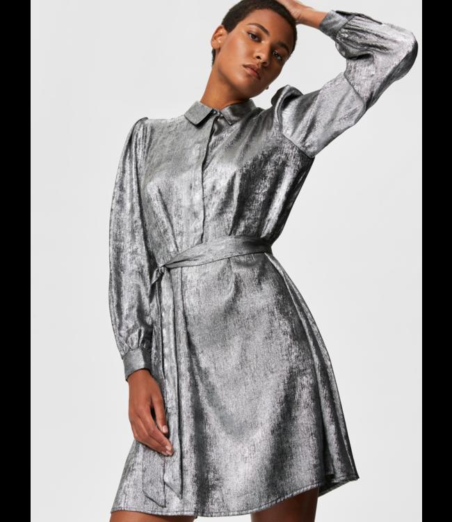 Selected Femme SLFAURELIA Short Shirt Dress  - Silver